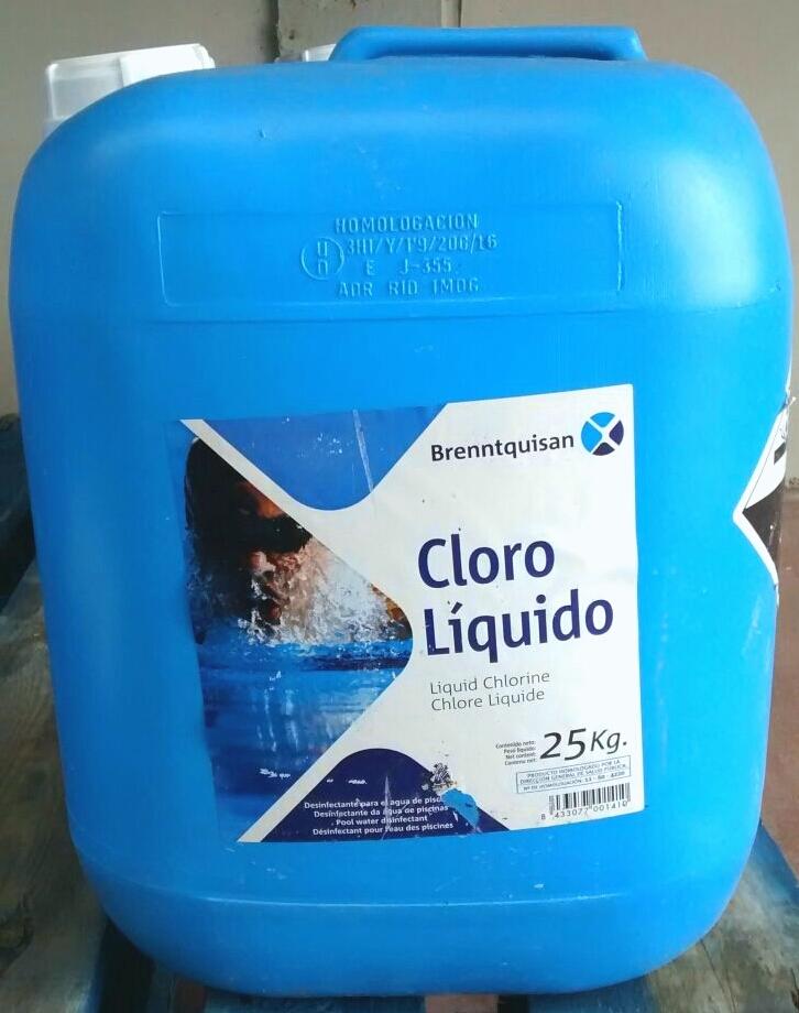Brenntquisan cloro l quido for Precio litro cloro liquido
